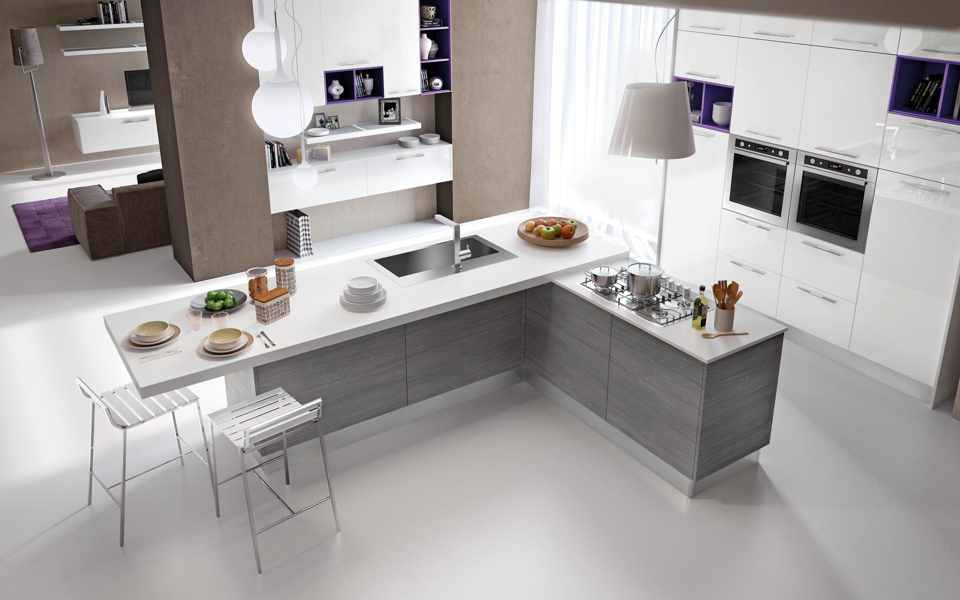 Awesome Cucine E Salone Unico Ambiente Images - Ideas & Design ...